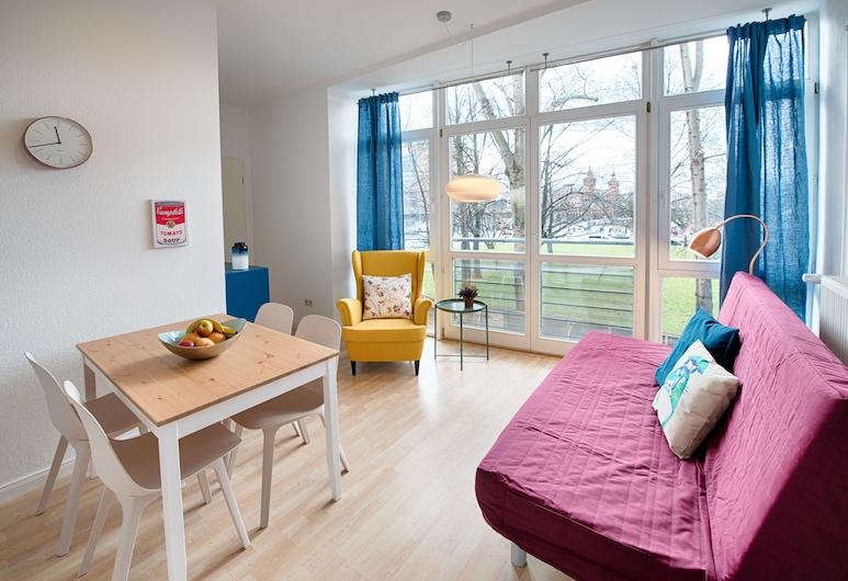 奧伯鮑姆城市公寓飯店, 柏林, 公寓, 1 間臥室 (Category VI), 客廳
