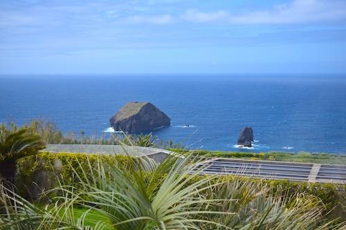素晴らしい海の景色を望む素朴な家/