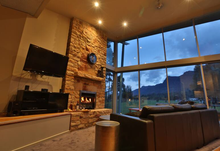 Bushland, Halls Gap, Luksuzna planinska kuća - chalet (Bushland Luxury Couples Retreat), Dnevni boravak