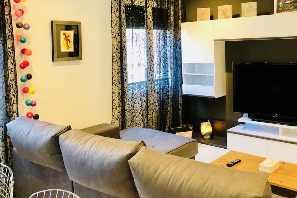 Appartement Deluxe, 2 chambres, cuisine, en angle - Salle de séjour