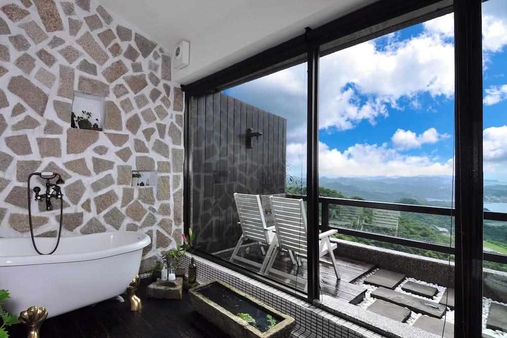 高級雙人房, 露台, 海景 - 浴室