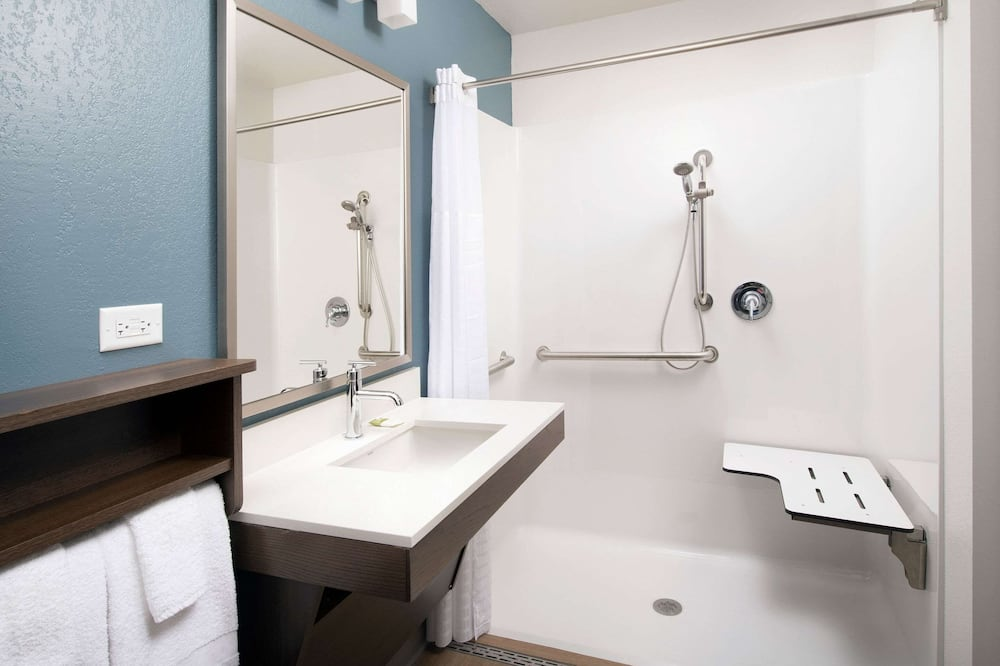 客房, 1 張加大雙人床, 無障礙, 非吸煙房 (Roll In Shower) - 浴室