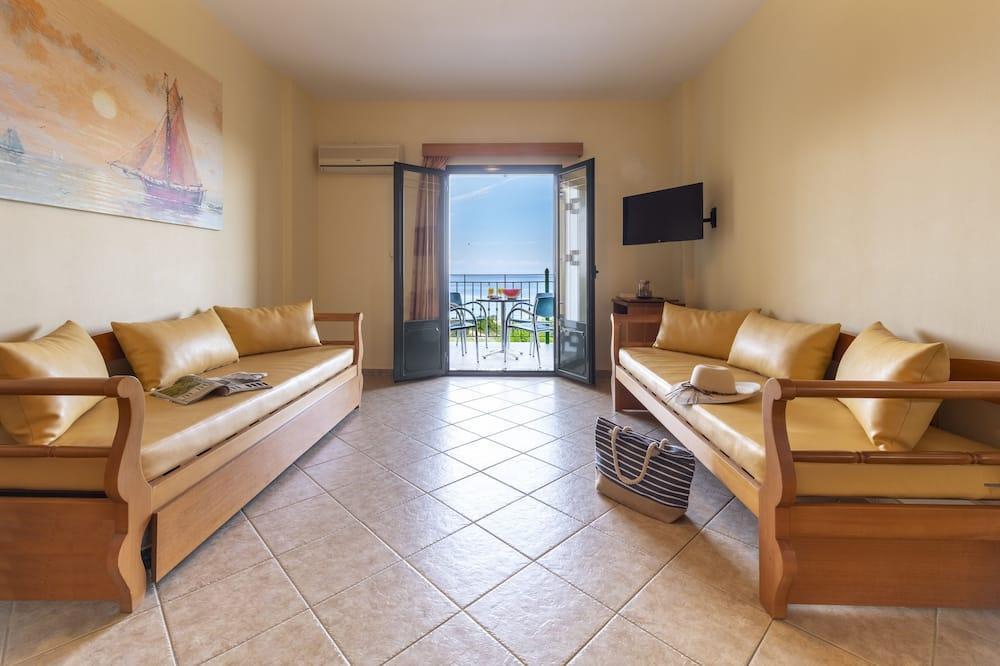 Elegant Apartment,  1 Bedroom, Sea View - 客廳
