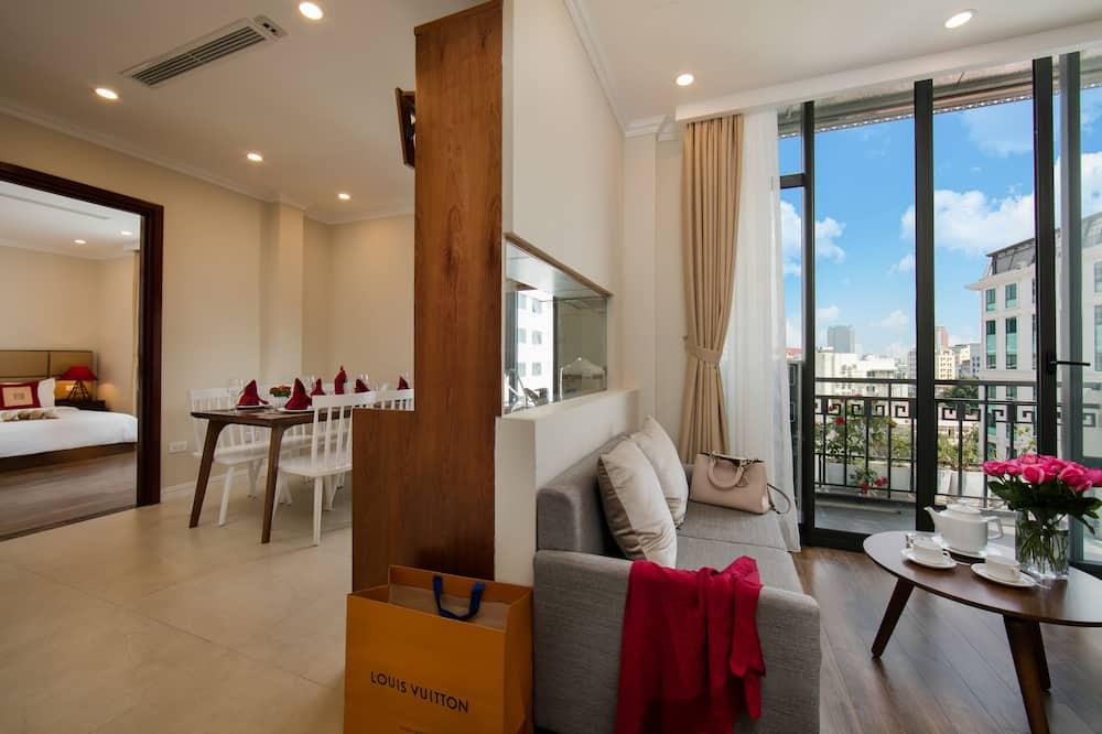 Suite, 1 chambre, terrasse (Au Coeur) - Salle de séjour