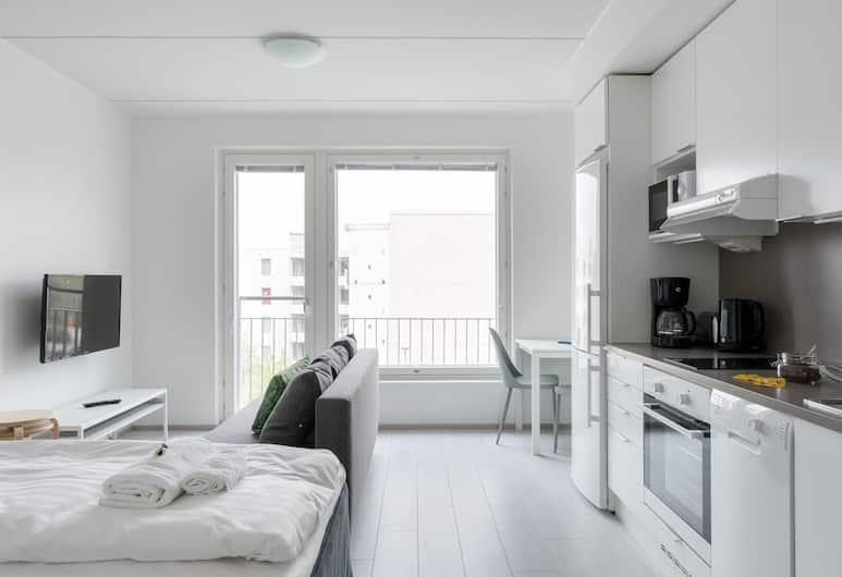 Hiisi Homes Espoo Center, Espoo, Standardní studio, Obývací prostor