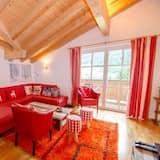 Luxus penthouse, 4 hálószobával, kilátással a hegyre - Nappali rész