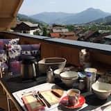 Luxus penthouse, 4 hálószobával, kilátással a hegyre - Erkély