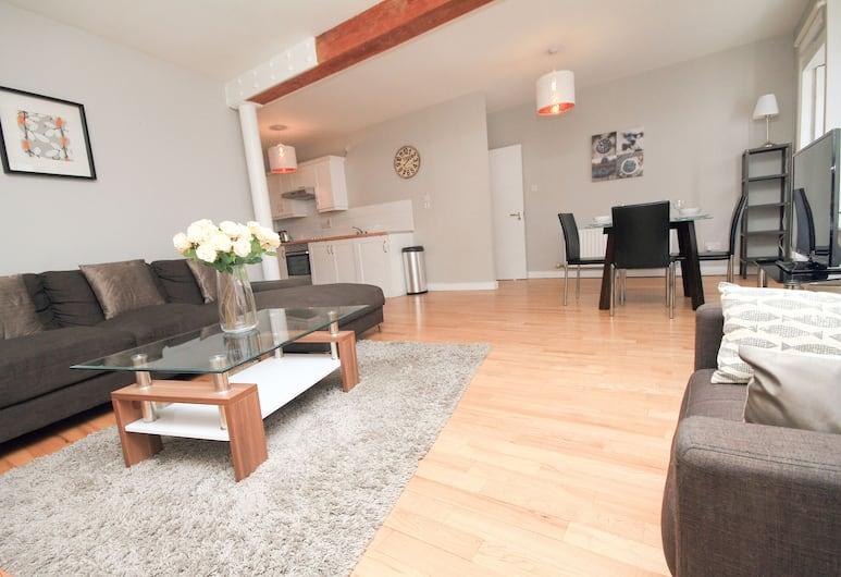 Sycamore Street Templebar Apartment, Δουβλίνο, Deluxe Διαμέρισμα, 2 Υπνοδωμάτια, 2 Μπάνια, Καθιστικό