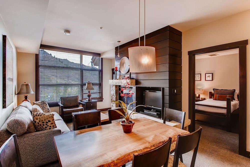 Luxus lakás, 2 hálószobával - Nappali rész