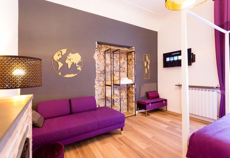 アパートメント チンクエ テッレ ラ スペツィア, ラスペーチア, クラシック アパートメント 2 ベッドルーム 簡易キッチン, リビング ルーム
