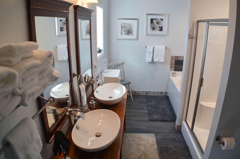 Одномісний номер з двоспальним ліжком, приватна ванна - Ванна кімната