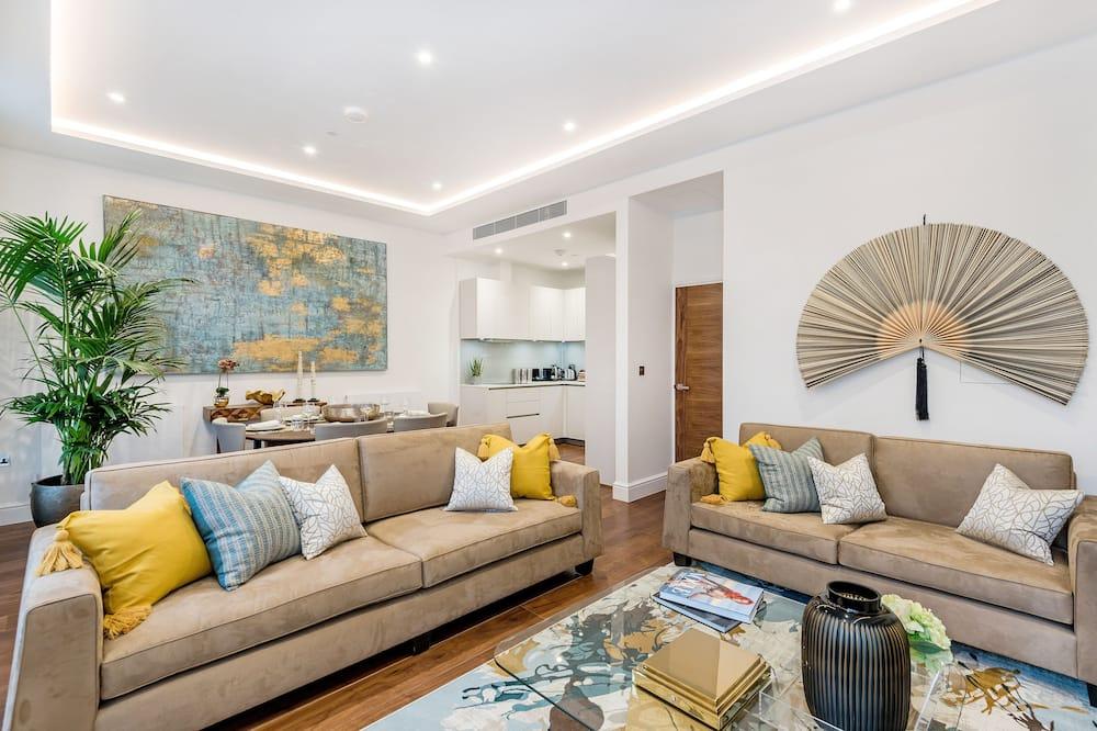 The Serpentine Apartment - Salle de séjour