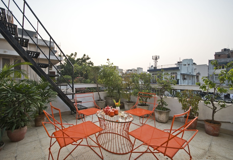 Prakash Kutir B&B, New Delhi, Terrasse/patio