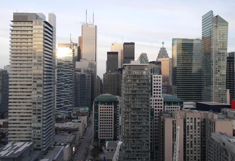Stunning 1BR Den Stunning View, Toronto, Appartement, 1 tweepersoonsbed met slaapbank, keuken, Kameruitzicht