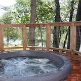 Розкішний котедж, 2 спальні, ванна з гідромасажем, з видом на озеро - Спа-ванна під відкритим небом