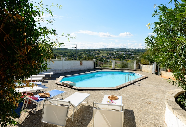 Hillside Villa, gated pool, spectacular valley views, spacious multiple terraces, Fasano, Pool