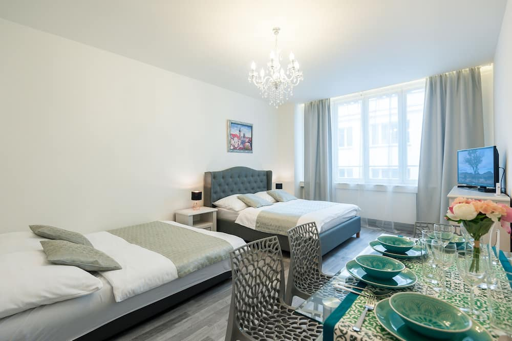 Departamento Premium, 1 cama Queen size con sofá cama - Sala de estar