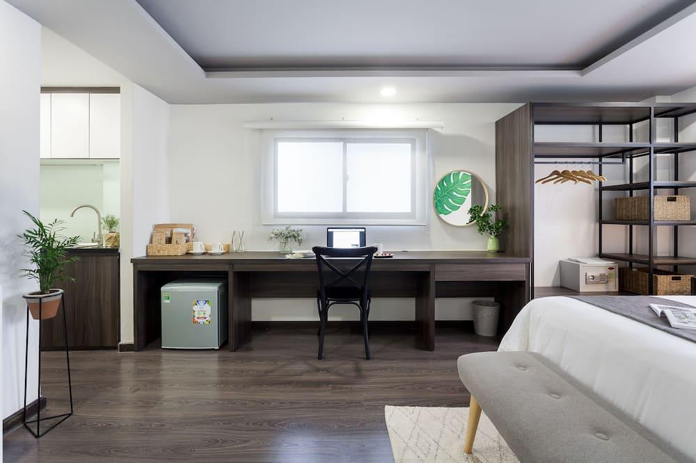 Studio – deluxe, 1 queensize-seng - Oppholdsområde