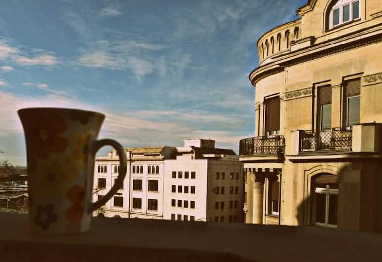 Roommates Hostel, Belgrad, Blick vom Hotel