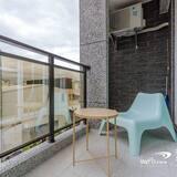 חדר קומפורט זוגי, מיטה זוגית - נוף מהמרפסת