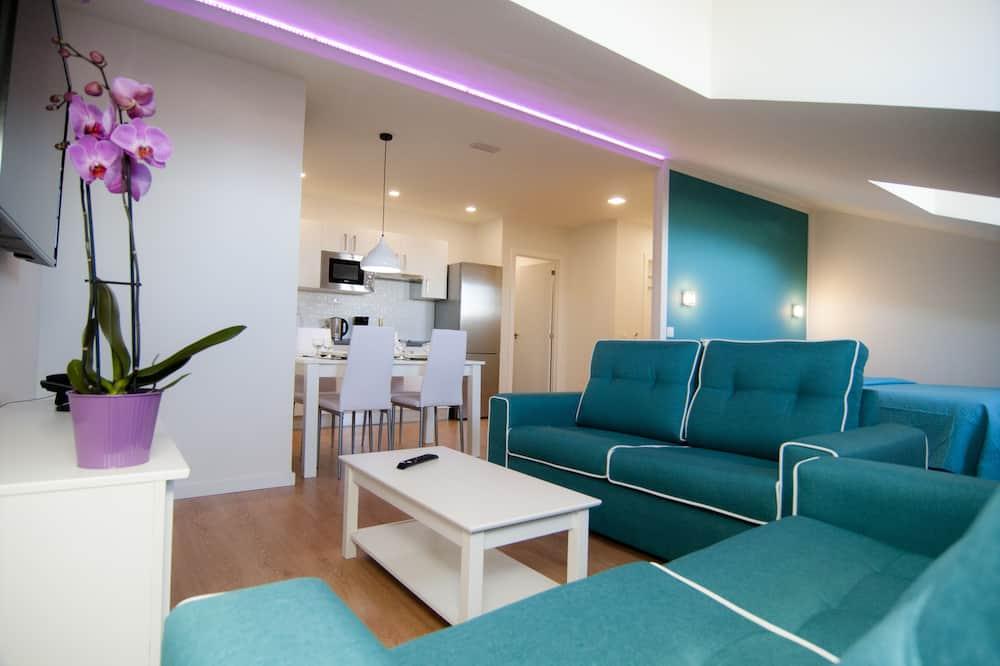 公寓, 1 間臥室, 部分海景 - 客廳