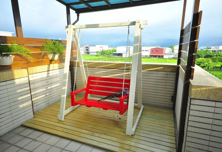 Happy Orange Homestay, Dongshan, Deluxe-Doppelzimmer, Balkon