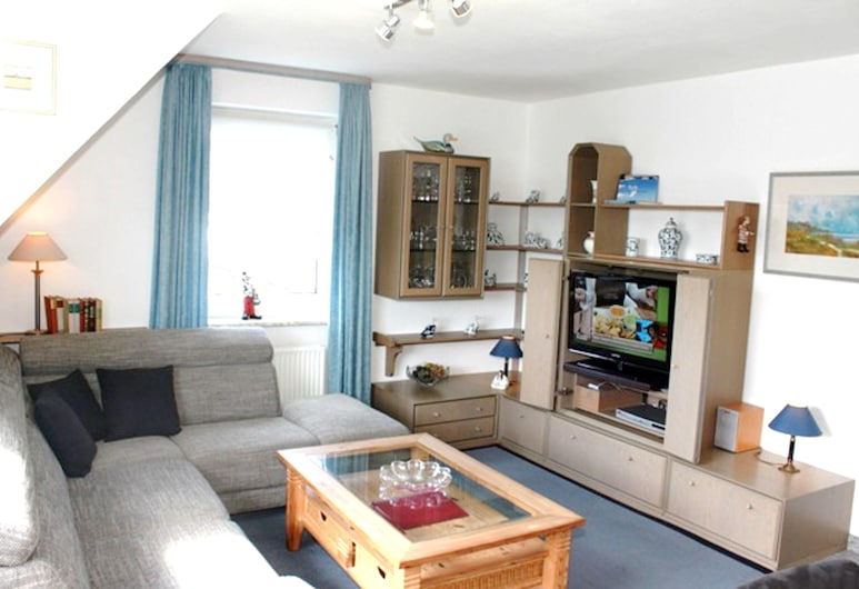 Apartment With 2 Bedrooms in Westerland-sylt, With Furnished Garden and Wifi, Sylt-Ost, Sala de estar