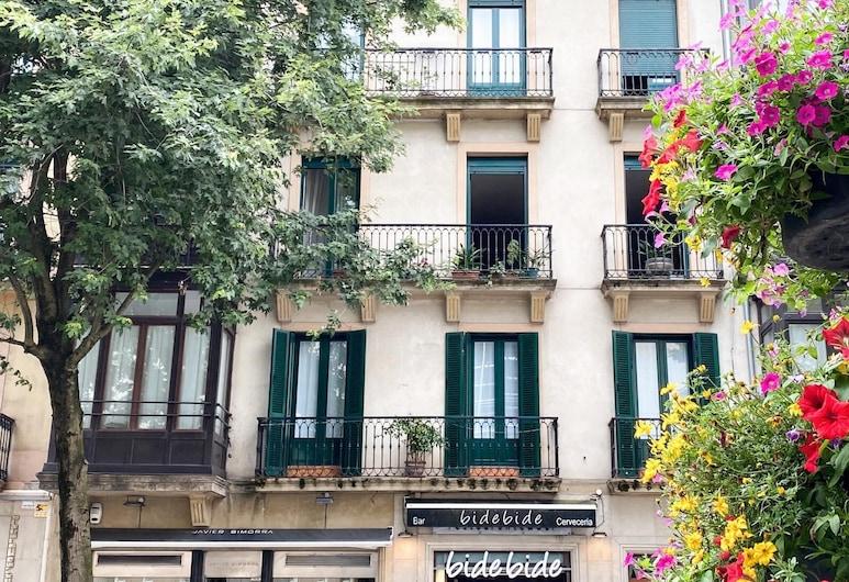Pensión Urkia, Saint-Sébastien, Façade de l'hôtel