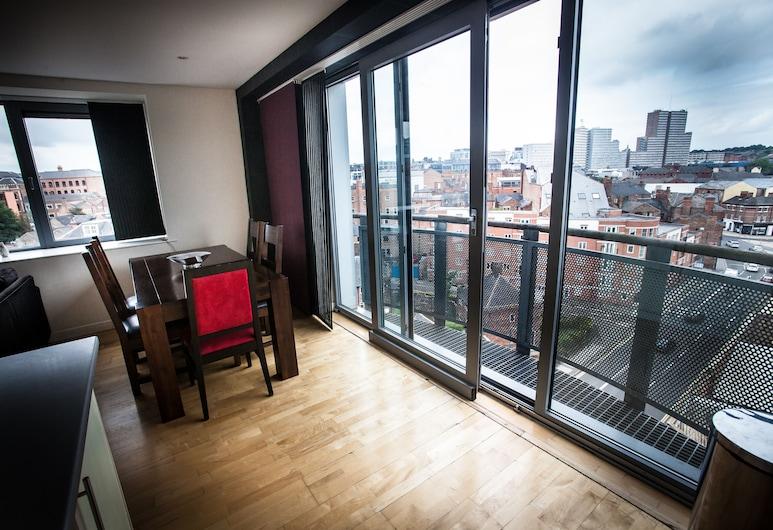 Cranbrook House Serviced Apartments, Nottingham, Apartment, 2Schlafzimmer, Küche, Ausblick vom Zimmer