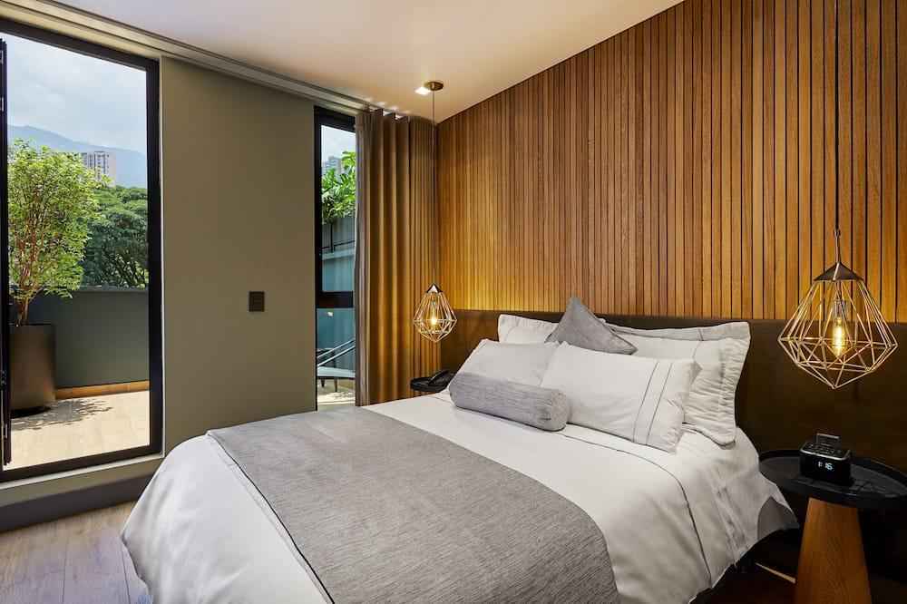 Suite Deluxe, 1 cama King size, bañera de hidromasaje, vista a la montaña - Balcón