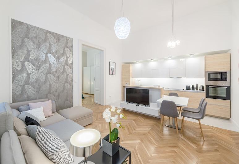 Oasis Apartments - King Street I, Budapeszt, Apartament typu Deluxe, 2 sypialnie, Salon