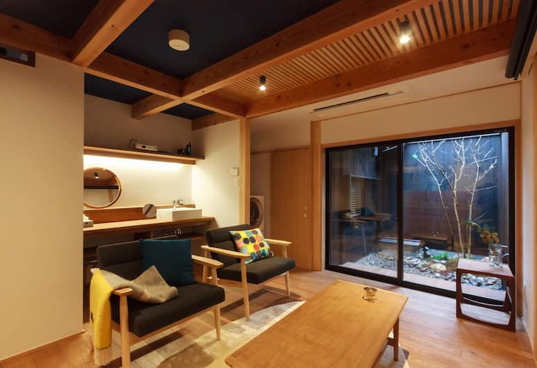 Hitoori, Kyoto, Suite, 2 Bedrooms, Garden View, Garden Area, Living Area