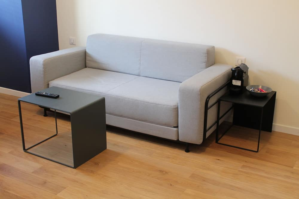 Luksus-lejlighed - 1 queensize-seng med sovesofa - Opholdsområde