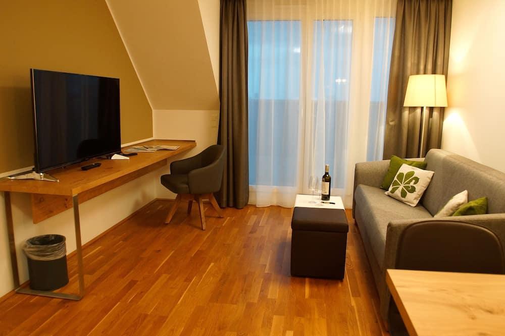 Apartemen Presidensial, 2 kamar tidur, balkon, pemandangan kota - Ruang Keluarga