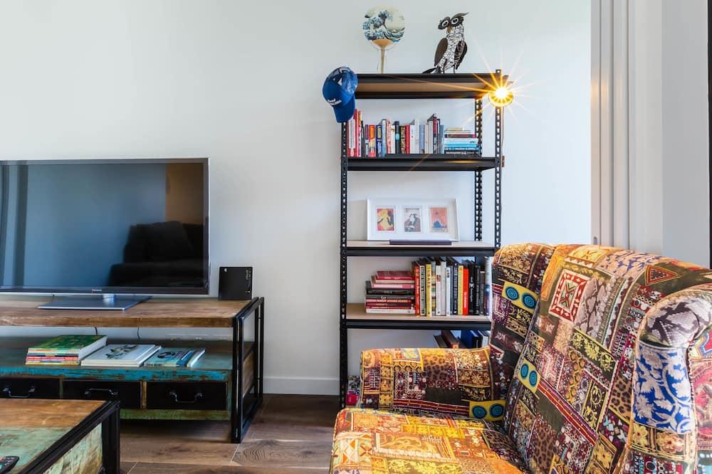 พรีเมียมอพาร์ทเมนท์, 1 ห้องนอน, ระเบียง - ห้องนั่งเล่น