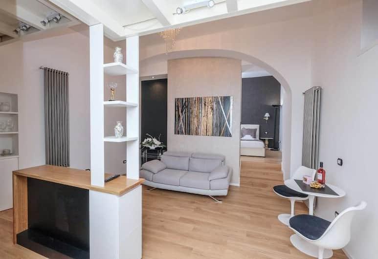 Luxury Suite 3 Archi, Roma, Luxury Süit, Şehir Manzaralı, Oturma Odası