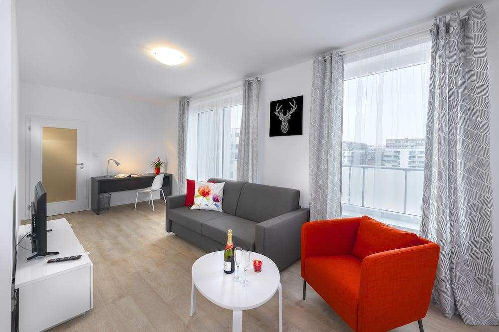 エクスクルーシブ アパートメント 1 ベッドルーム バルコニー シティビュー - リビング エリア