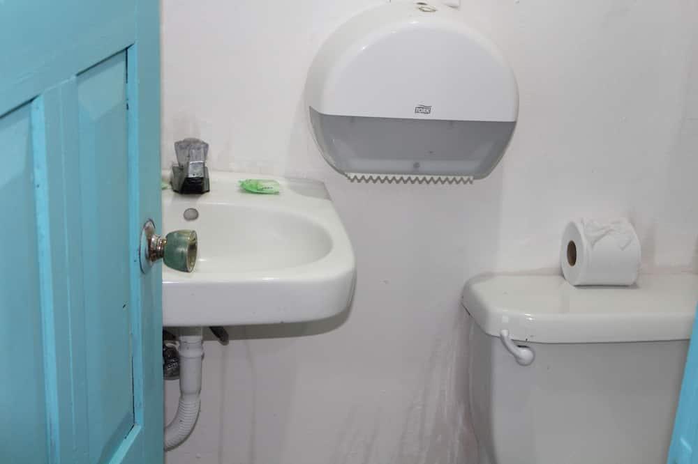 Economy-dobbeltværelse til 1 person - 1 dobbeltseng - ved sø - Badeværelse