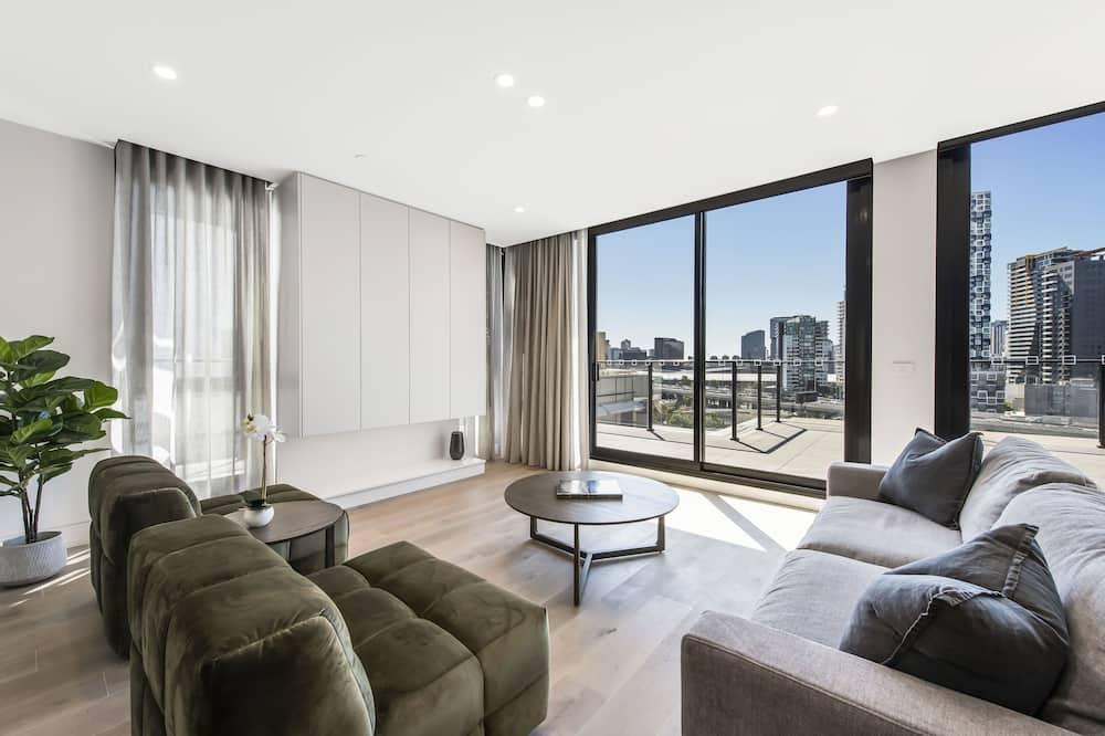 Penthouse Exclusif, 3 chambres - Coin séjour