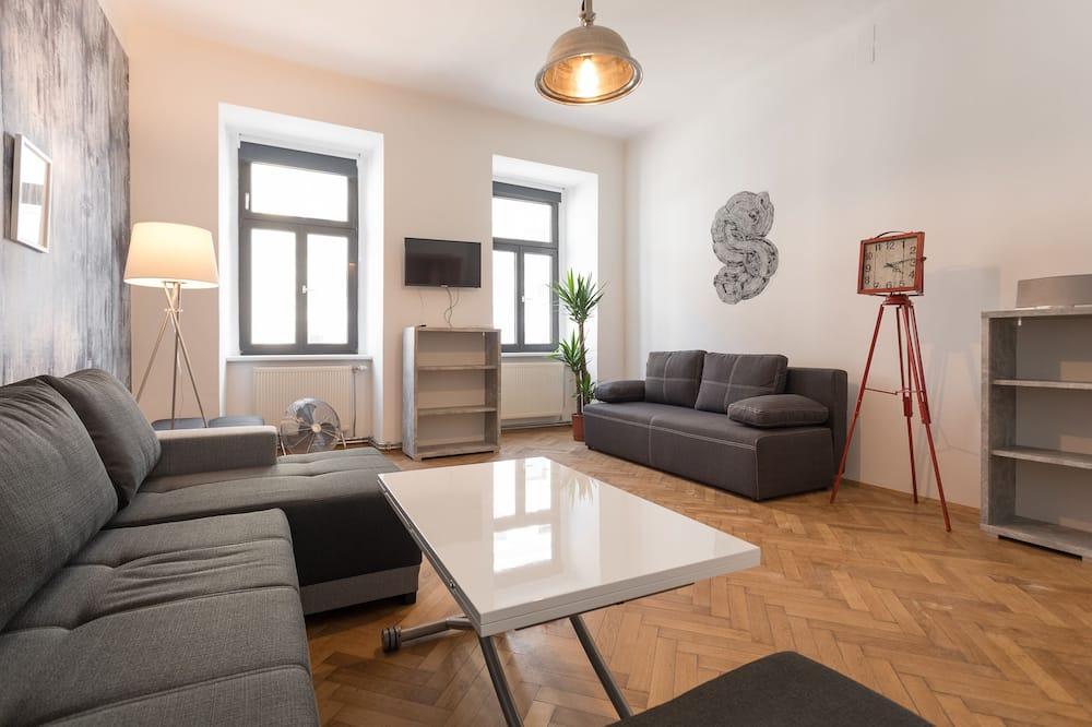 Vintage Apartment am Naschmarkt - Wohnbereich