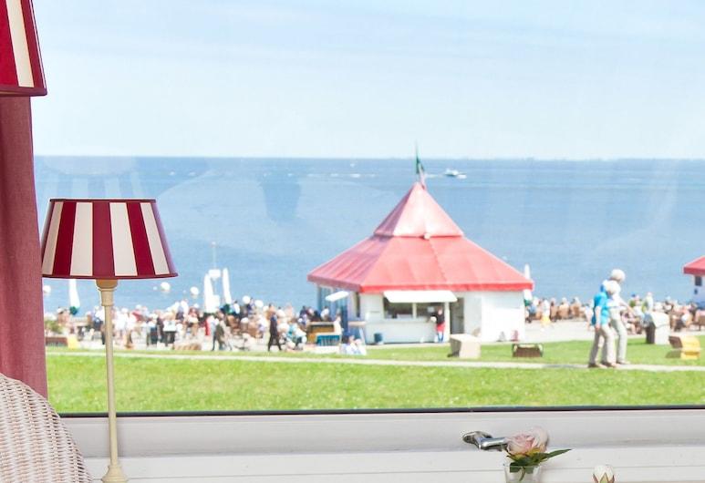 Villa Caldera, Cuxhaven, Doppelzimmer, Balkon, Meerblick, Ausblick vom Zimmer