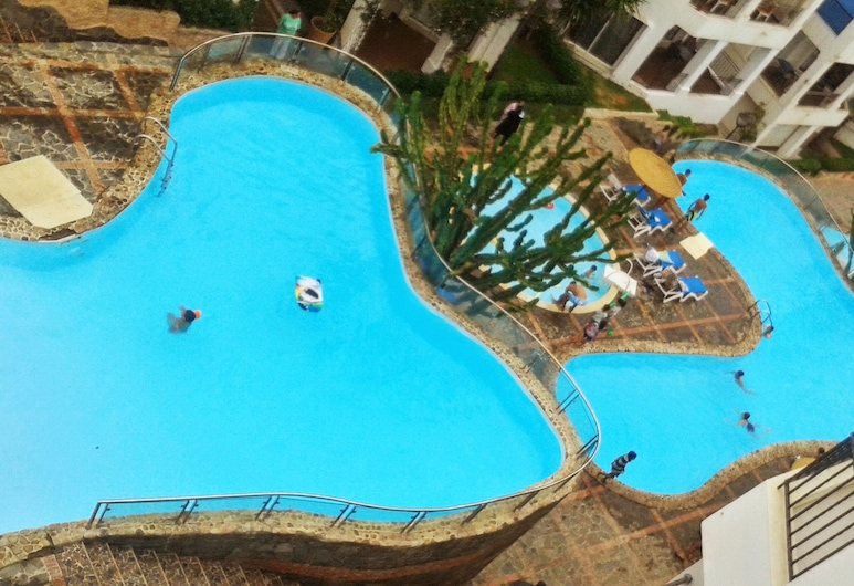 Apartment With one Bedroom in Tamaris, With Wonderful sea View, Shared Pool, Enclosed Garden - 250 m From the Beach, Dar Bouazza, Piscina