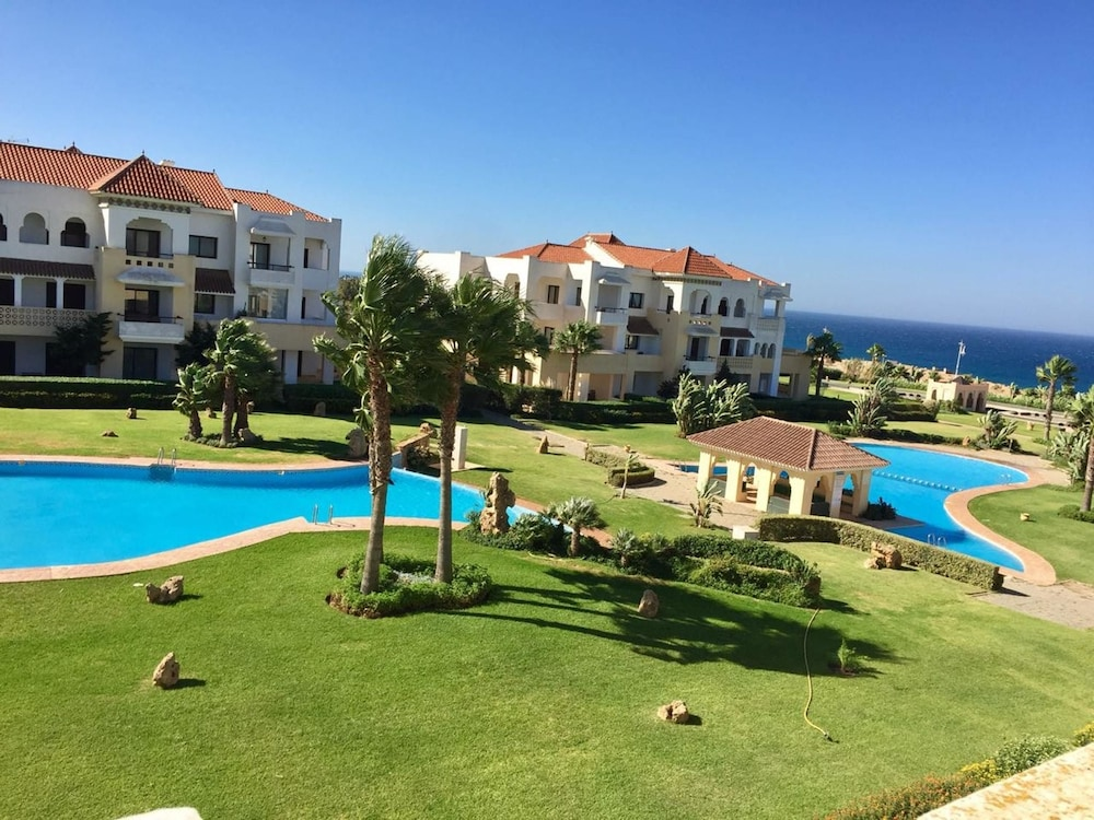 Apartment With 3 Bedrooms In Tanger Wonderful Sea View Pool Access And Enclosed