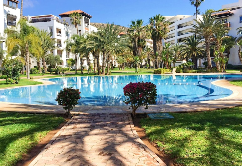 Apartment With 2 Bedrooms in Agadir, With Shared Pool and Furnished Garden - 100 m From the Beach, Agadir, Basen