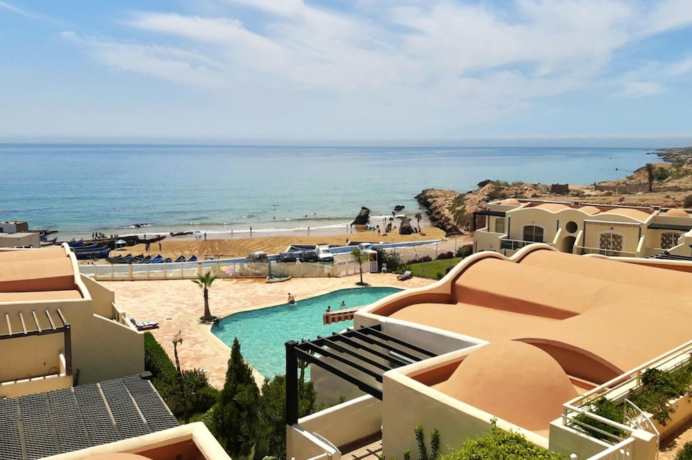 Apartment With 2 Bedrooms in Tiguert, With Wonderful sea View, Private Pool and Terrace