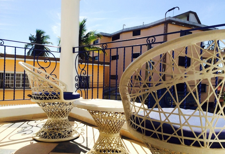 Apartment With one Bedroom in Boca Chica, With Wonderful City View, Shared Pool and Wifi - 600 m From the Beach, Boca Chica, Balkon