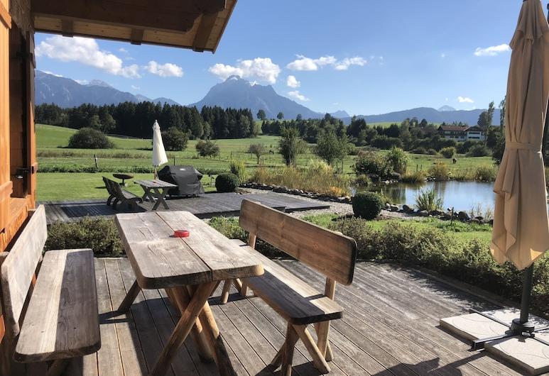 Landhaus Kössel, Fuessen, Luxury Chalet, 1 Bedroom, Fireplace, Pool View, Terrace/Patio