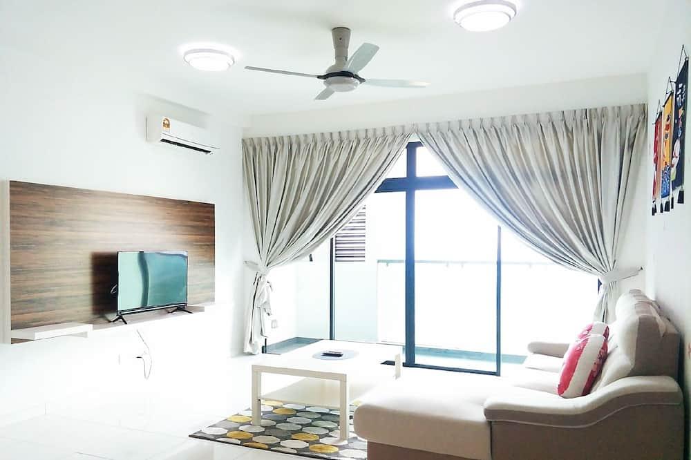 Luxury külaliskorter, 3 magamistoaga, vaade linnale - Lõõgastumisala