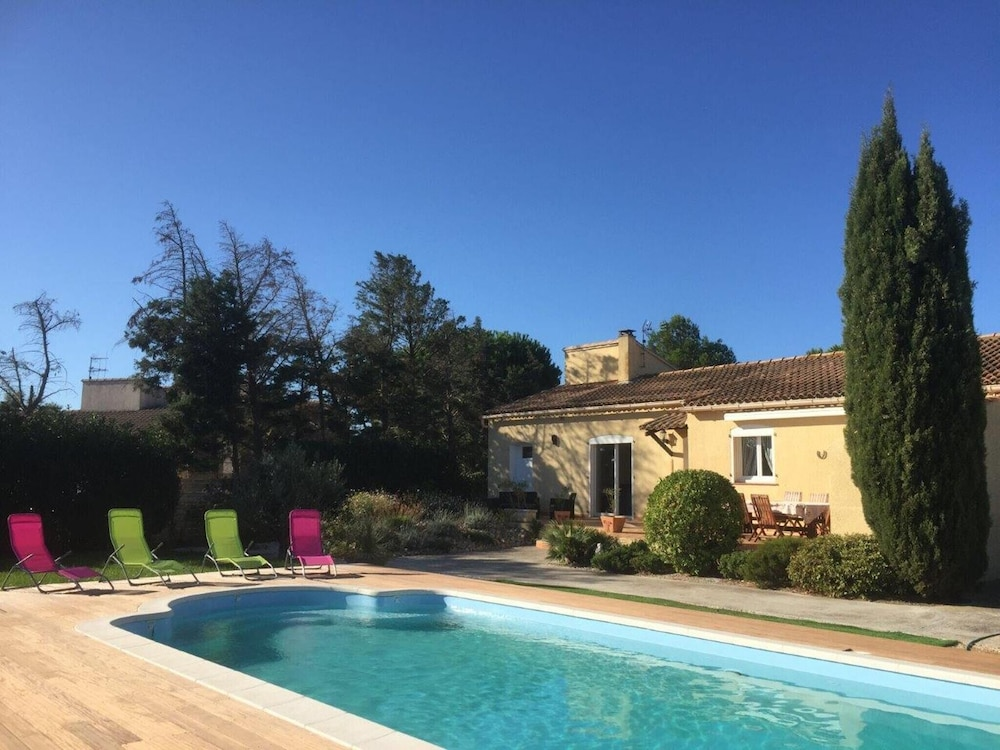 Modern House In Aude, Languedoc Roussillon, With Garden, Private Pool And  Wifi