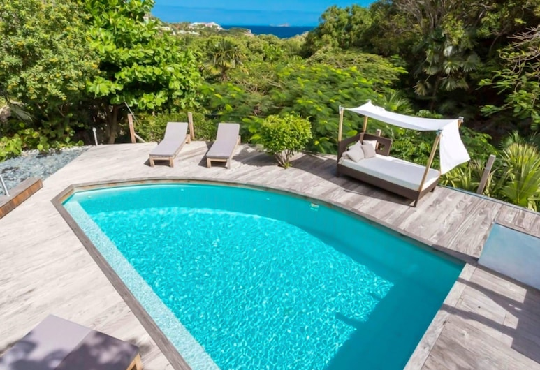 Villa With 4 Bedrooms in Gustavia, With Wonderful sea View, Private Pool, Enclosed Garden - 500 m From the Beach, St. Barthelemy, Pool